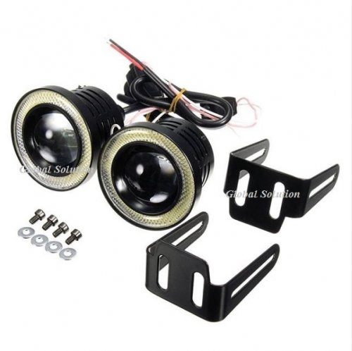 12V FOG ANGEL EYES R500 10W-76MM Белый